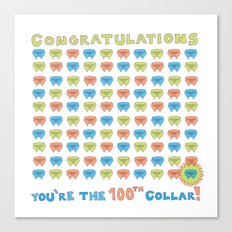 100th Collar! Canvas Print