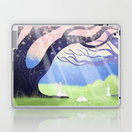 Soft Light On Soft Hares In Aloquil's Glades Laptop & iPad Skin