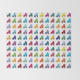 Rainbow Roller Skatin' Throw Blanket
