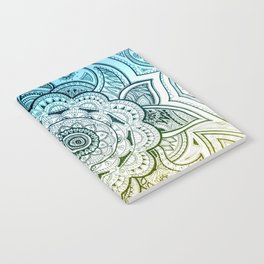 Mandala Blue Yellow Notebook