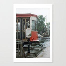 Train in z rain Canvas Print