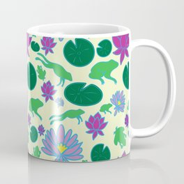 Jumping Frogs of Lily Pad Valley Coffee Mug