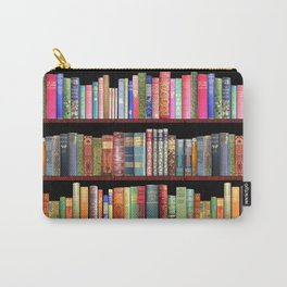 Book Lovers Gifts, Antique bookshelf Carry-All Pouch