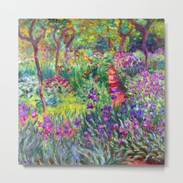 Claude Monet Garden in Giverny Metal Print