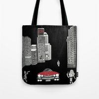 sin city Tote Bags featuring sin city by Carmit Levy