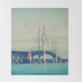 Mackinac Bridge Throw Blanket