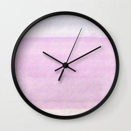 Pastel pink lilac ivory ombre watercolor Wall Clock
