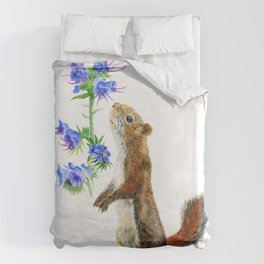 Take Time To Smell The Flowers by Teresa Thompson Duvet Cover