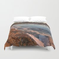 cracked Duvet Covers featuring Cracked ice. by Mikhail Zhirnov