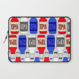 red white and blue IPA beer pattern Laptop Sleeve
