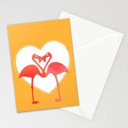 lovebirds - flamingos in love Stationery Cards