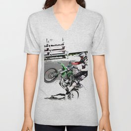 Making a Stand - Freestyle Motocross Rider Unisex V-Neck