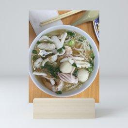 seafood soup noodle Mini Art Print