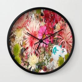 Flowers In My Heart Wall Clock