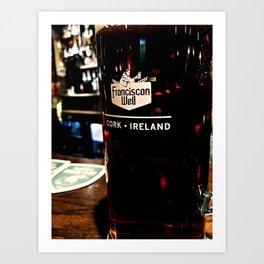Irish Pint Art Print