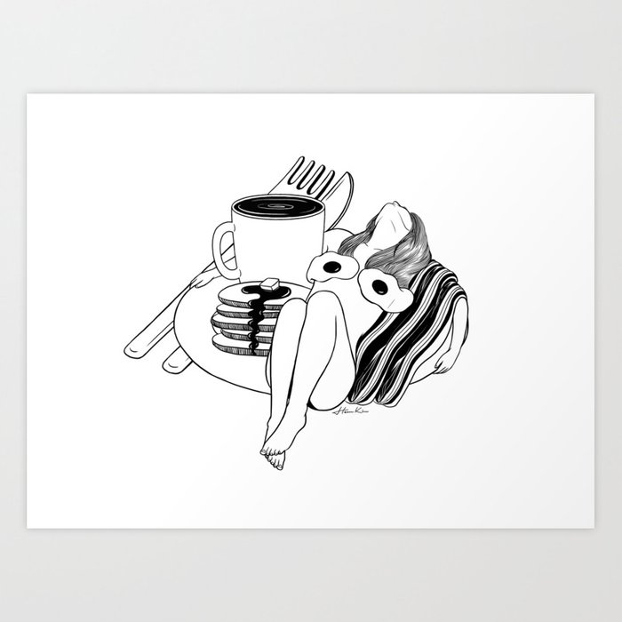 Big Breakfast Art Print