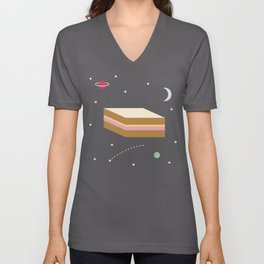 Ham & Cheese in Space Unisex V-Neck