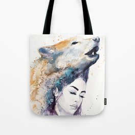Wolf Girl Tote Bag