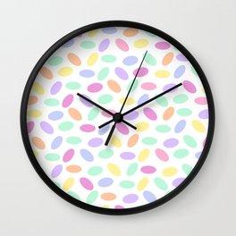 Pastel Jellybeans Wall Clock