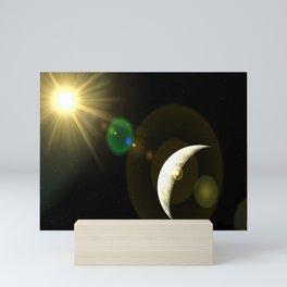 lens flare moon Mini Art Print