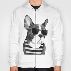 Frenchie Summer Style b&w Hoody