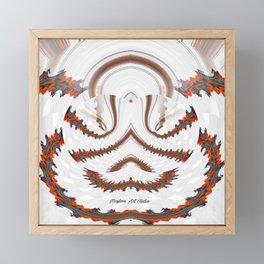 Red Land 7 Framed Mini Art Print