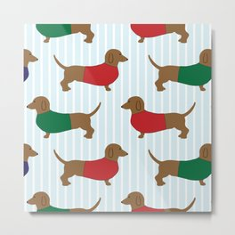 Dachshund Sausage Dog Metal Print