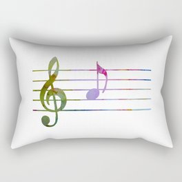 Musical Note A Rectangular Pillow