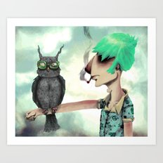 Punk N' A Bird Art Print