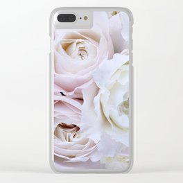 Rose Bouquet x Lilac Clear iPhone Case