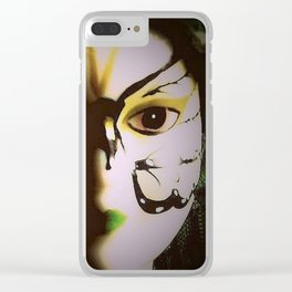 Doll In Color Clear iPhone Case