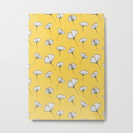 Ginkgo Biloba Leaves Pattern #society6 #decor #buyart Metal Print