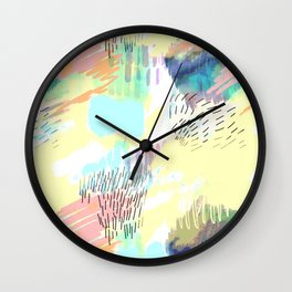 Colors Behind My Eyelids Wall Clock