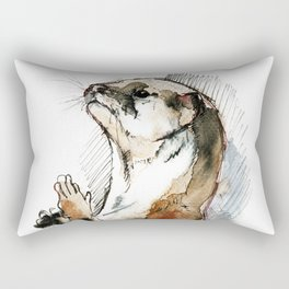 Amblonyx cinereus otter Rectangular Pillow