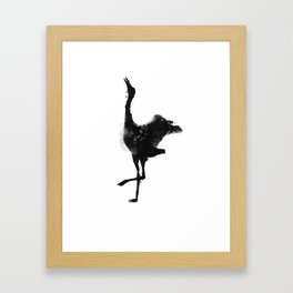 Oil and Wildlife Don't Mix - Crane Framed Art Print
