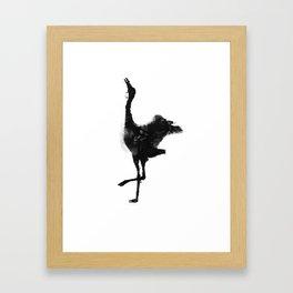 Oil and Wildlife Don't Mix - Crane Framed Art Print