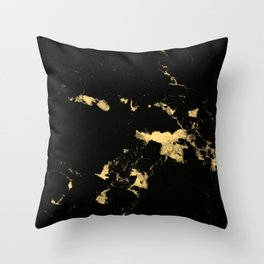 Black Marble #5 #decor #art #society6 Throw Pillow