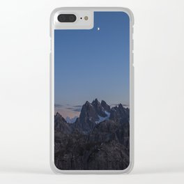 Dolomit sunset Clear iPhone Case