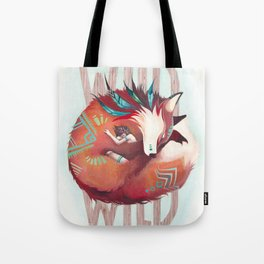 Wild - fox and girl sleeping together Tote Bag