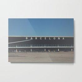 barcellona airport Metal Print