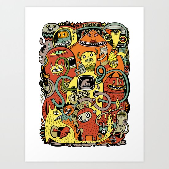 Warm in Art Print