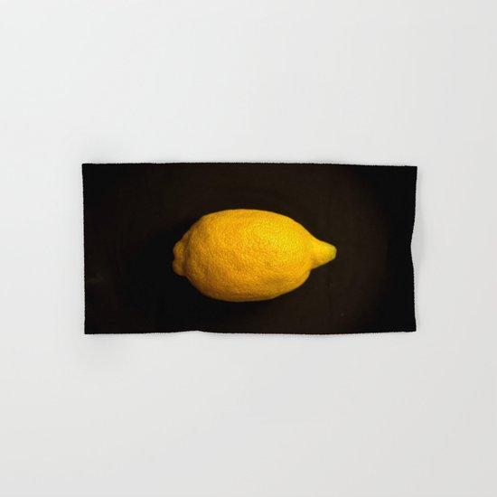 Yellow Lemon Hand & Bath Towel