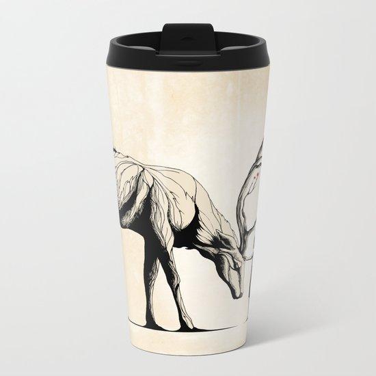 Knowing the Deer Tree Metal Travel Mug