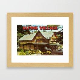 Vintage Lodge Post Card Framed Art Print