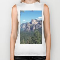 yosemite Biker Tanks featuring YOSEMITE  by Melissa Whitman