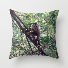 Monkey Sanctuary – Monkey with attitude Throw Pillow