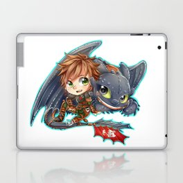 Httyd 2 - Chibi Hiccup and Toothless Laptop & iPad Skin