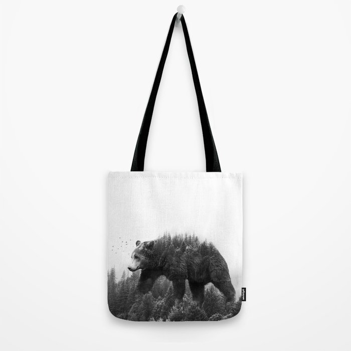 Walking trough the forest Tote Bag