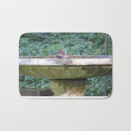 Bird in bath, Poulsbo Bath Mat