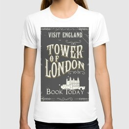 Tower of london England vintage poster T-shirt